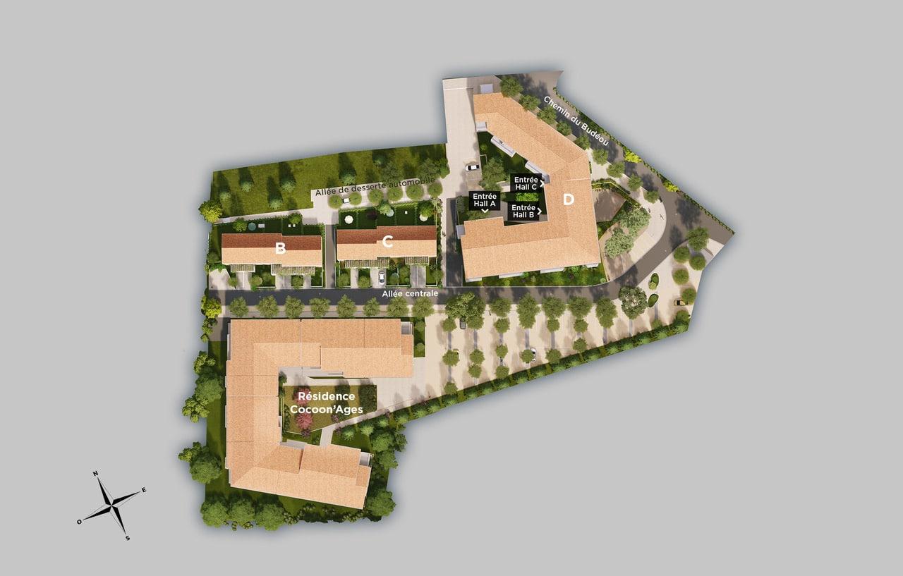 Plan de masse du Cocoon Village